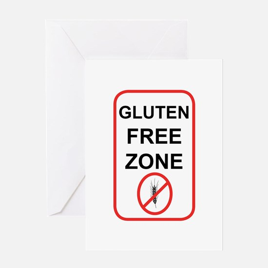 Gluten-Free Zone Greeting Card