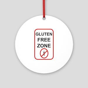 Gluten-Free Zone Ornament (Round)