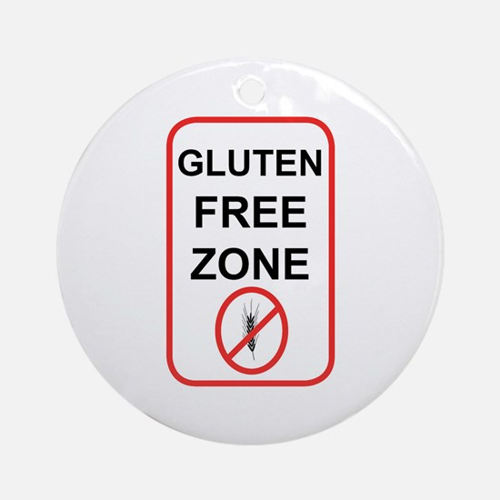 Gluten-Free Zone Ornament (Round)