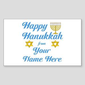 Hanukkah Sticker (Rectangle)