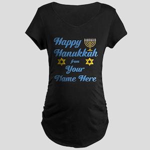 Hanukkah Maternity Dark T-Shirt