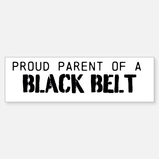 Black Belt Parent Sticker (Bumper)