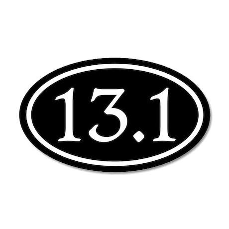 13.1 Half Marathon Oval 22x14 Oval Wall Peel