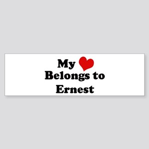 My Heart: Ernest Bumper Sticker