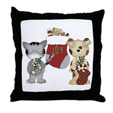 Christmas Joy Friends Throw Pillow