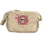 Fishnet Skull Messenger Bag