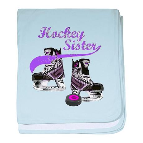 Hockey Sister baby blanket