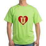 Love U Green T-Shirt