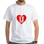Love U White T-Shirt