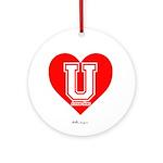 Love U Ornament (Round)