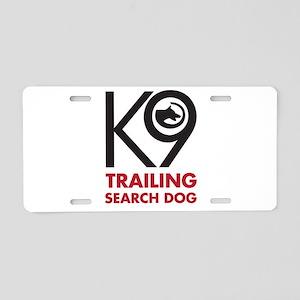 Trailing Bold Aluminum License Plate