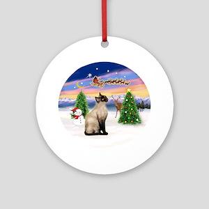 Take Off (3) & Siamese cat Ornament (Round)