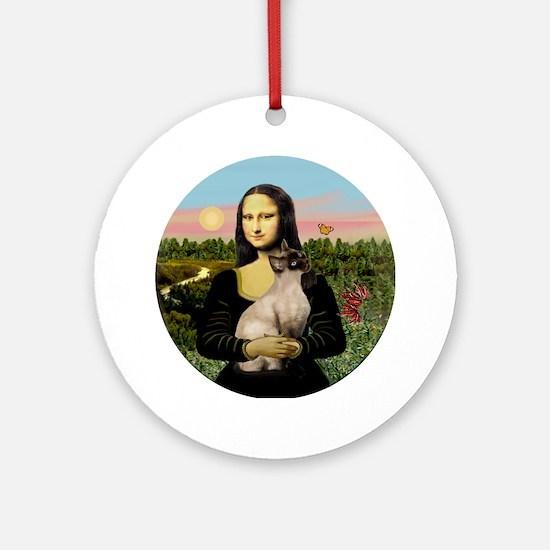Mona's Siamese (CP) Ornament (Round)