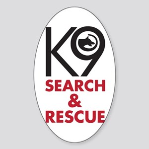 K9 Bold General S&R Sticker (Oval)