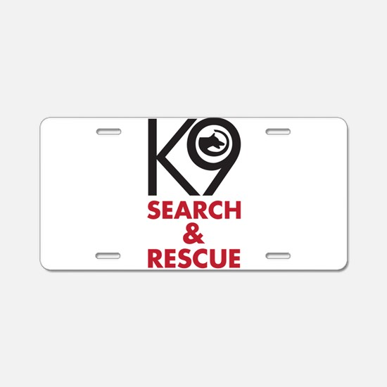 K9 Bold General S&R Aluminum License Plate