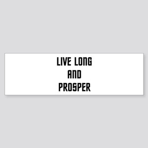Live Long and Prosper Sticker (Bumper)