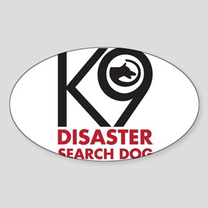 Disaster Dog Bold Sticker (Oval)