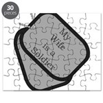 My Wife is a Soldier dog tag Puzzle