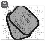 My Daddy is a Soldier dog tag Puzzle