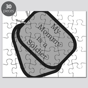 My Mommy is a Soldier dog tag Puzzle
