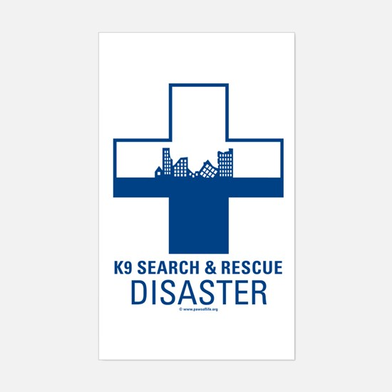 Disaster Crosses Sticker (Rectangle)