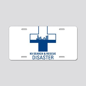 Disaster Crosses Aluminum License Plate