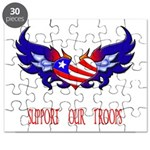 Support our Troops Heart Puzzle