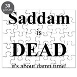 Saddam is Dead it's about tim Puzzle