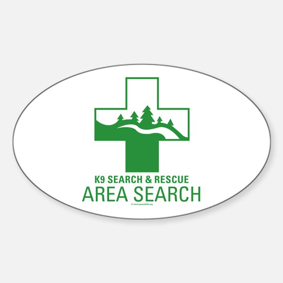 Area Search Crosses Sticker (Oval)
