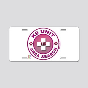 Area Search Circles Aluminum License Plate