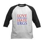 Love Rowing - Hate Ergs Kids Baseball Jersey