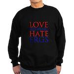 Love Rowing - Hate Ergs Sweatshirt (dark)