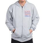 Love Rowing - Hate Ergs Zip Hoodie