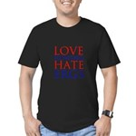 Love Rowing - Hate Ergs Men's Fitted T-Shirt (dark