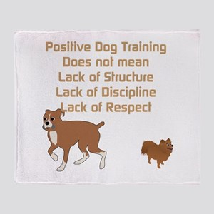 Positive Dog Training Throw Blanket
