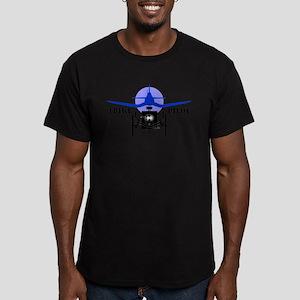 Trike Pilot Men's Fitted T-Shirt (dark)