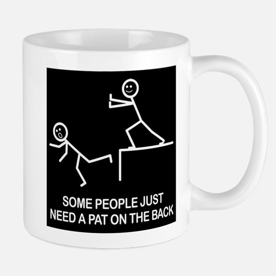 Pat on the back Large Mugs