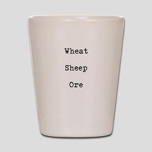 Wheat Sheep Ore Shot Glass