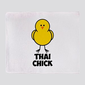 Thai Chick Throw Blanket