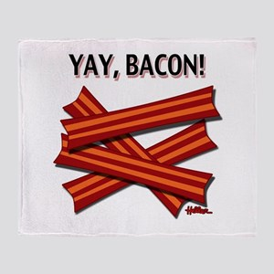 Yay, Bacon! Throw Blanket