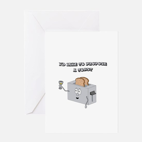 Propose a toast Greeting Card