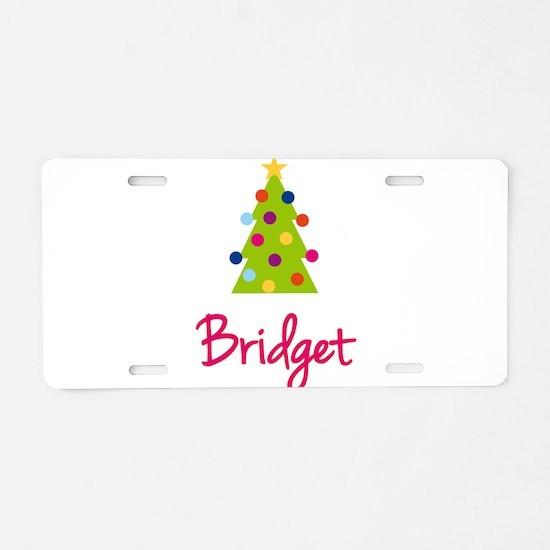 Christmas Tree Bridget Aluminum License Plate