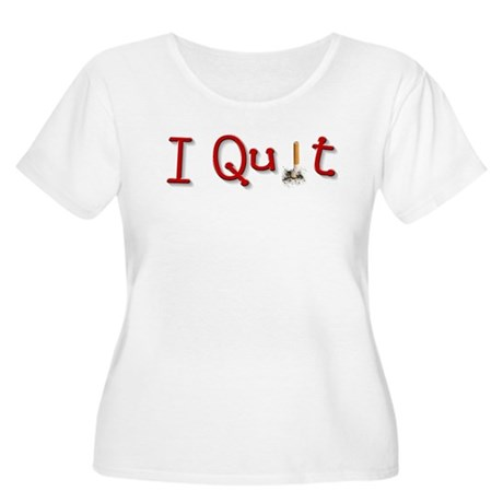Quit Smoking Women's Plus Size Scoop Neck T-Shirt