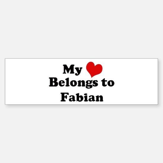 My Heart: Fabian Bumper Bumper Bumper Sticker
