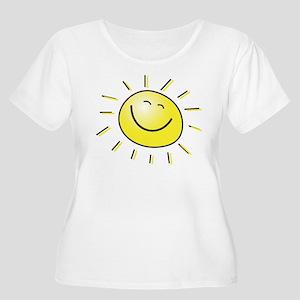 Sunshine Women's Plus Size Scoop Neck T-Shirt