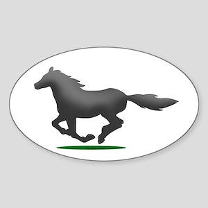 Horse (JR) Sticker (Oval)