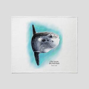 Ocean Sunfish Throw Blanket