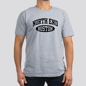 North End Boston Men's Fitted T-Shirt (dark)