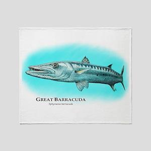 Great Barracuda Throw Blanket