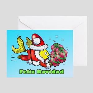 Feliz Navidad, Merry Christma Greeting Card